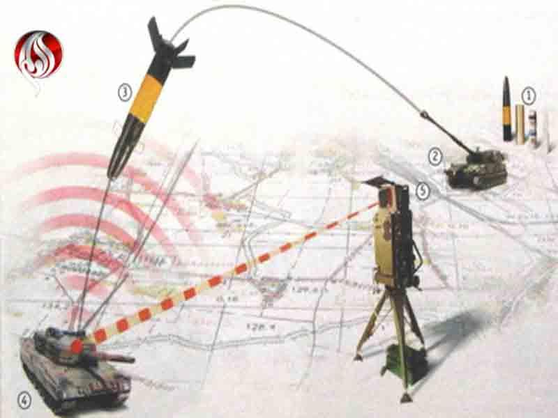 لیزری شدن گلولههای توپخانه سپاه