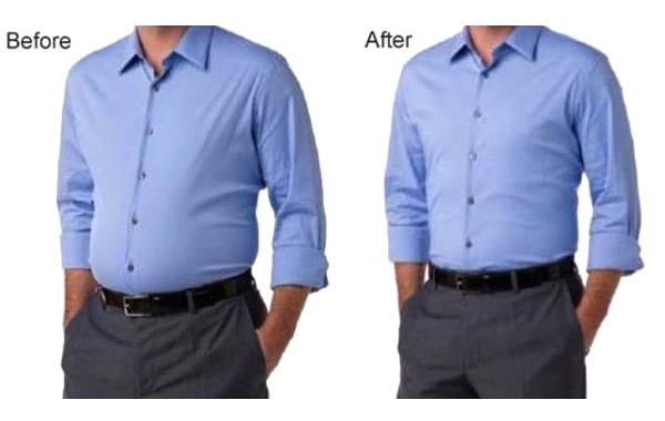 مقایسه قبل و بعد از پوشیدن گن مردانه آرتان