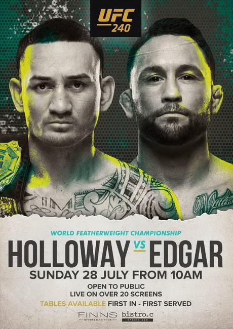نتایج رویداد: UFC 240: Holloway vs. Edgar+پرداختی ها