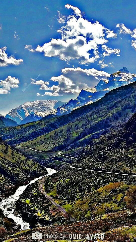 جاده پیرعبدالله دورود - قطار دورود - کوه قارون