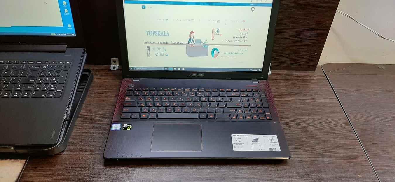 لپ تاپ استوک ایسوس مدل ASUS K550V  با مشخصات i7-6gen-16GB-2TB-HDD-4GB-nvidia-GTX-950M