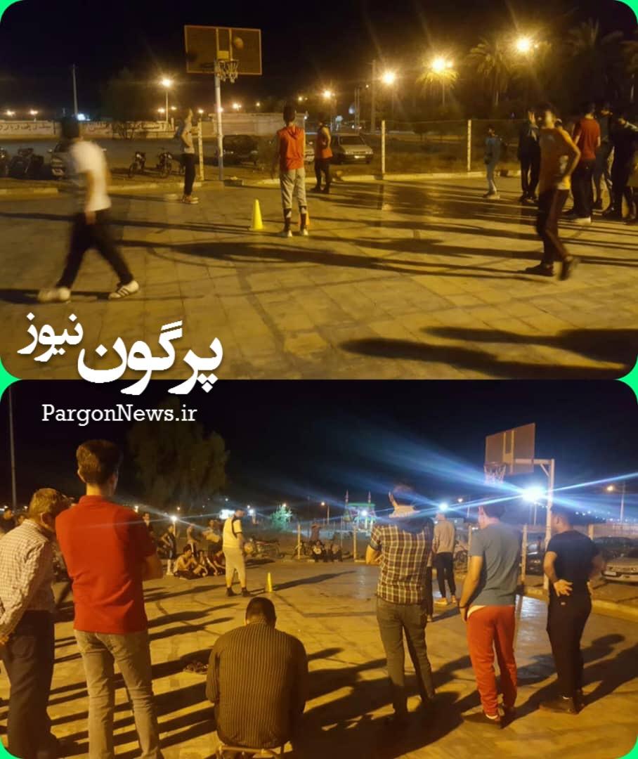 برگزاری مسابقات پنالتی بسکتبال در شهر قیر