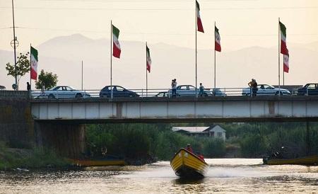 تفریح مسافران تابستانی در مرز ایران و آذربایجان