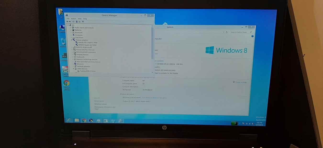 لپ تاپ استوک اچ پی مدل HP ZBOOK 17 G2 با مشخصات i7-4gen-16GB-256GB-SSD-500GB-HDD-4GB-nvidia-quadro-k3100
