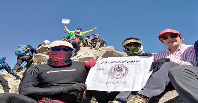 صعود گروه کوهنوردی کانون وکلای کردستان به قله علم کوه